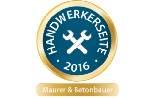 auszeichnung zur Handwerksseite 2016